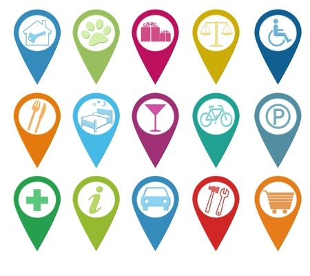 google map markers for small businesses