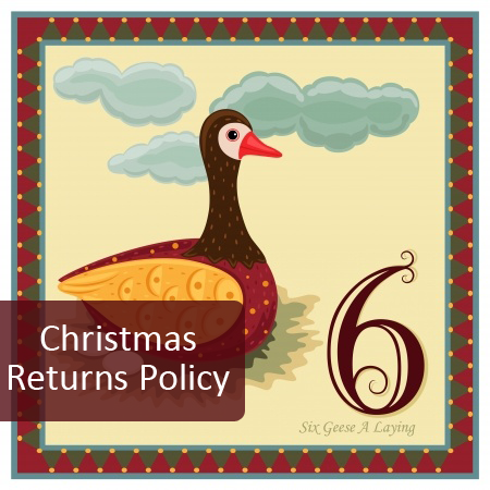 6th Day of Pre Christmas Marketing - display your returns policy clearly