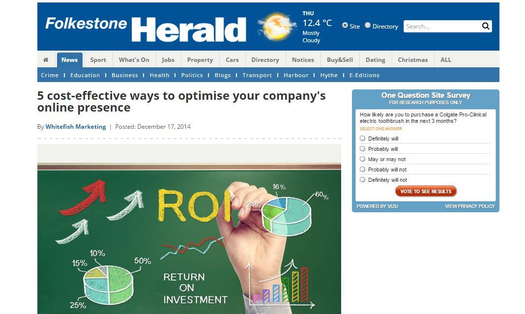 Whitefish Marketing now blogging on Folkestone Herald