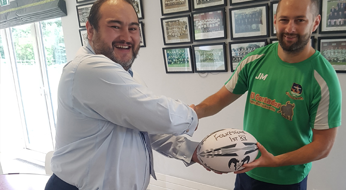 Whitefish Marketing Sponsor Folkestone Rugby Club banner